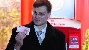 Valdis Dombrovskis, premier della Lettonia.