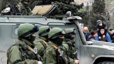 Truppe russe in Crimea.