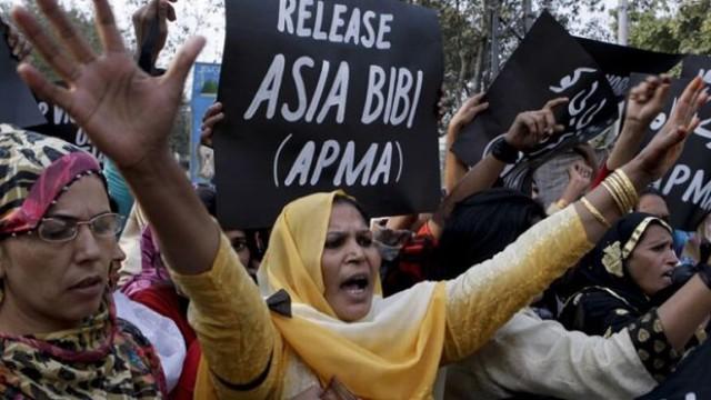 Una manifestazione a favore di Asia Bibi in Pakistan.